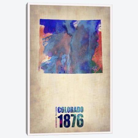 Colorado Watercolor Map Canvas Print #NAX281} by Naxart Canvas Print