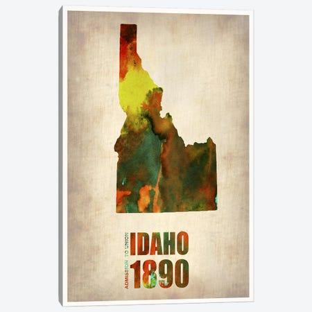 Idaho Watercolor Map Canvas Print #NAX284} by Naxart Canvas Artwork