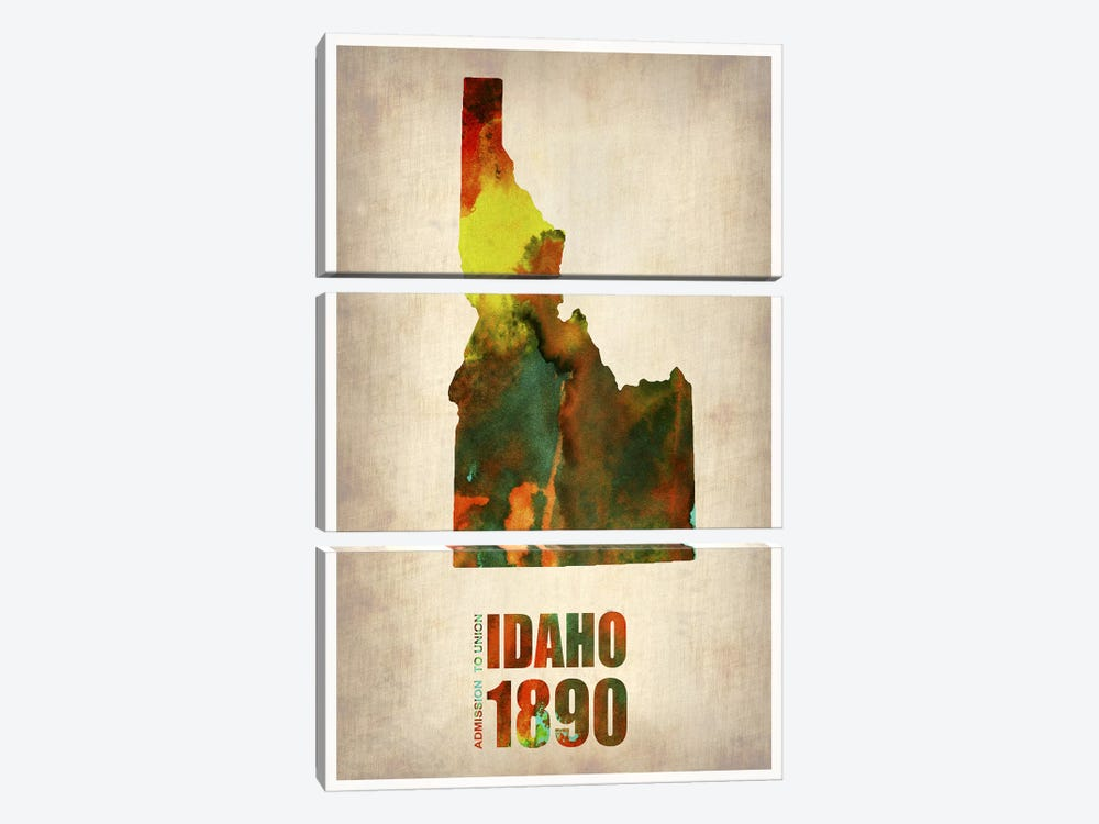 Idaho Watercolor Map by Naxart 3-piece Art Print