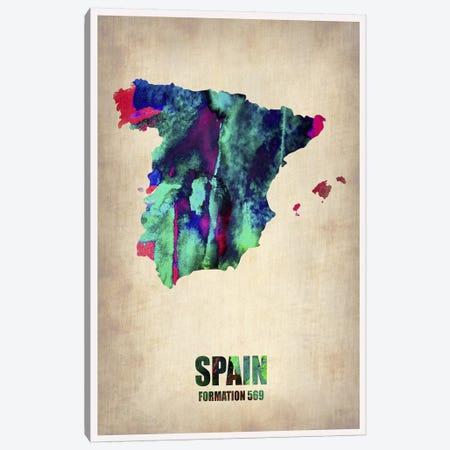 Spain Watercolor Map Canvas Print #NAX319} by Naxart Canvas Art Print