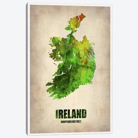 Ireland Watercolor Map Canvas Print #NAX320} by Naxart Canvas Wall Art
