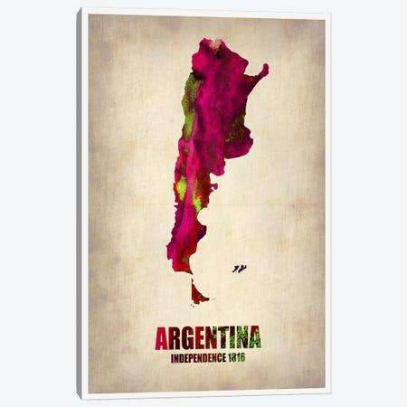 Argentina Watercolor Map Canvas Print #NAX331} by Naxart Canvas Print