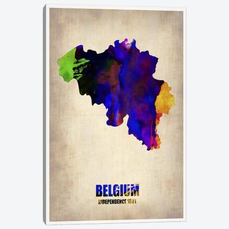 Belgium Watercolor Map Canvas Print #NAX334} by Naxart Canvas Art