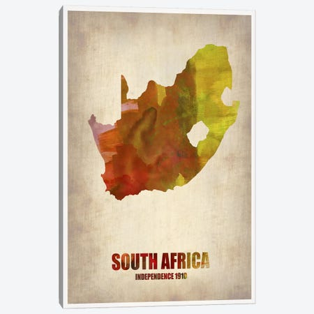 South African Map Canvas Print #NAX336} by Naxart Canvas Wall Art