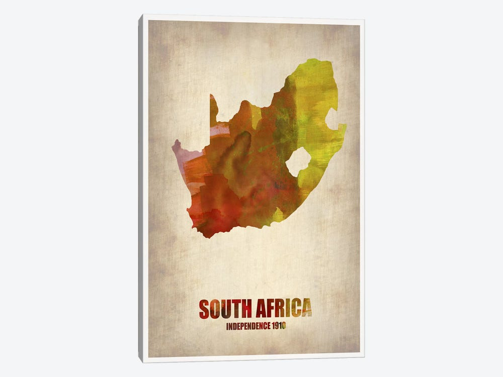 South African Map 1-piece Canvas Print
