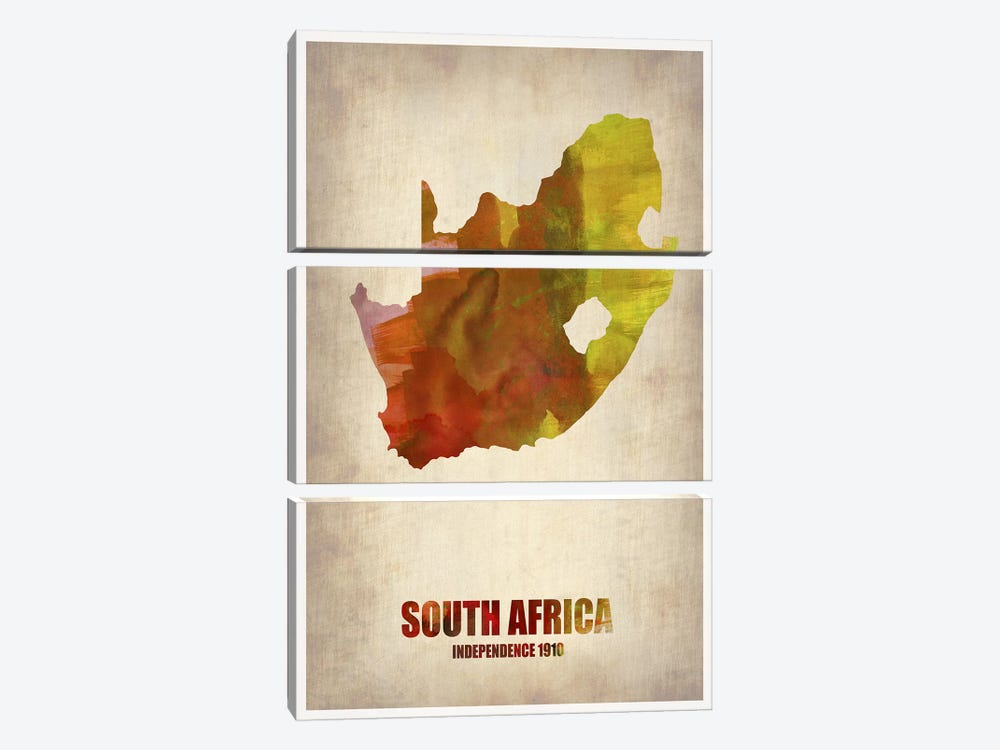 South African Map 3-piece Canvas Print