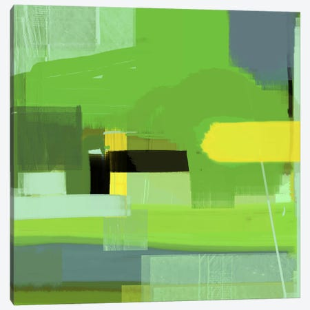 Green Abstract VI Canvas Print #NAX339} by Naxart Canvas Print