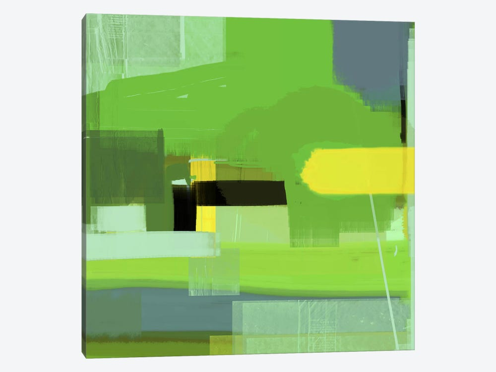 Green Abstract VI by Naxart 1-piece Canvas Art