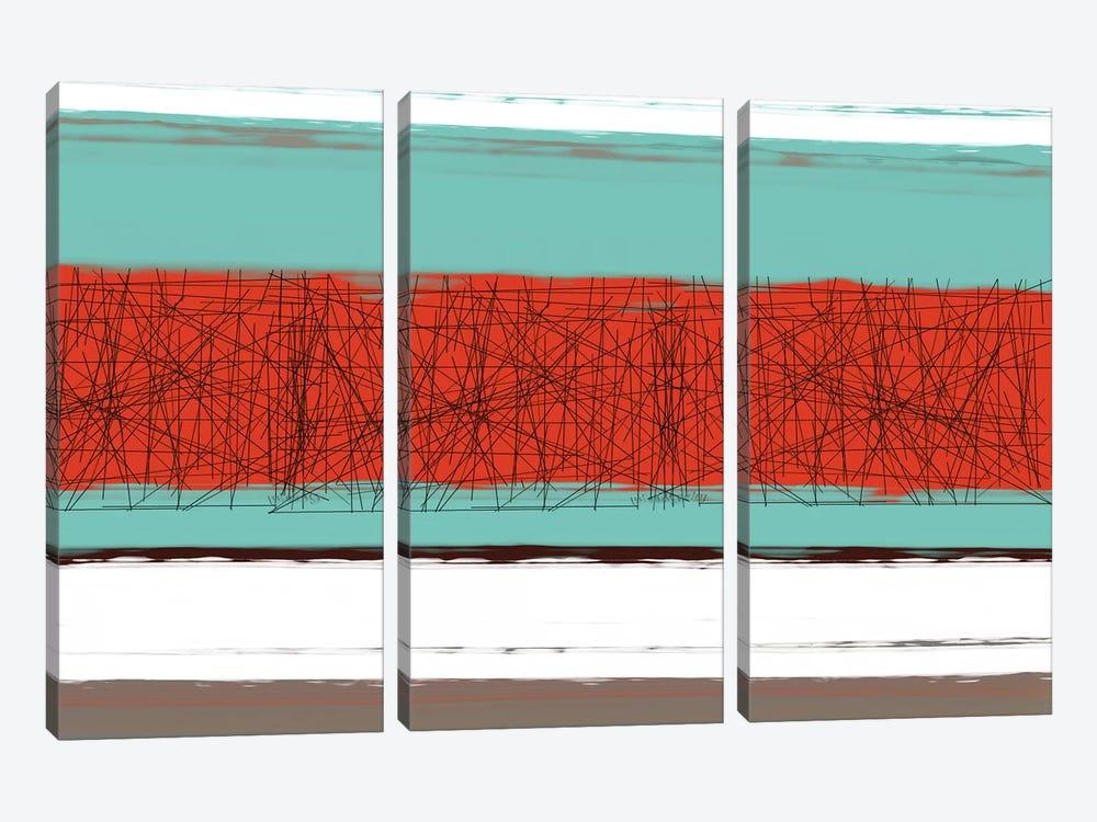 Aquatic Breeze III by Naxart 3-piece Canvas Wall Art