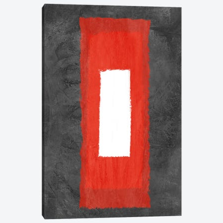 Grey and Red Abstract IV Canvas Print #NAX344} by Naxart Art Print