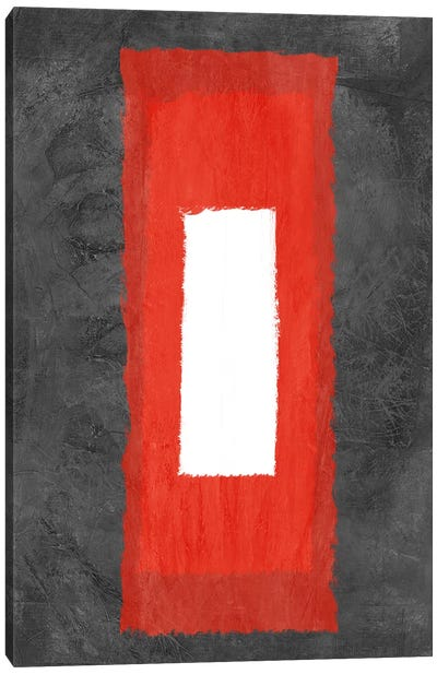 Grey and Red Abstract IV Canvas Art Print