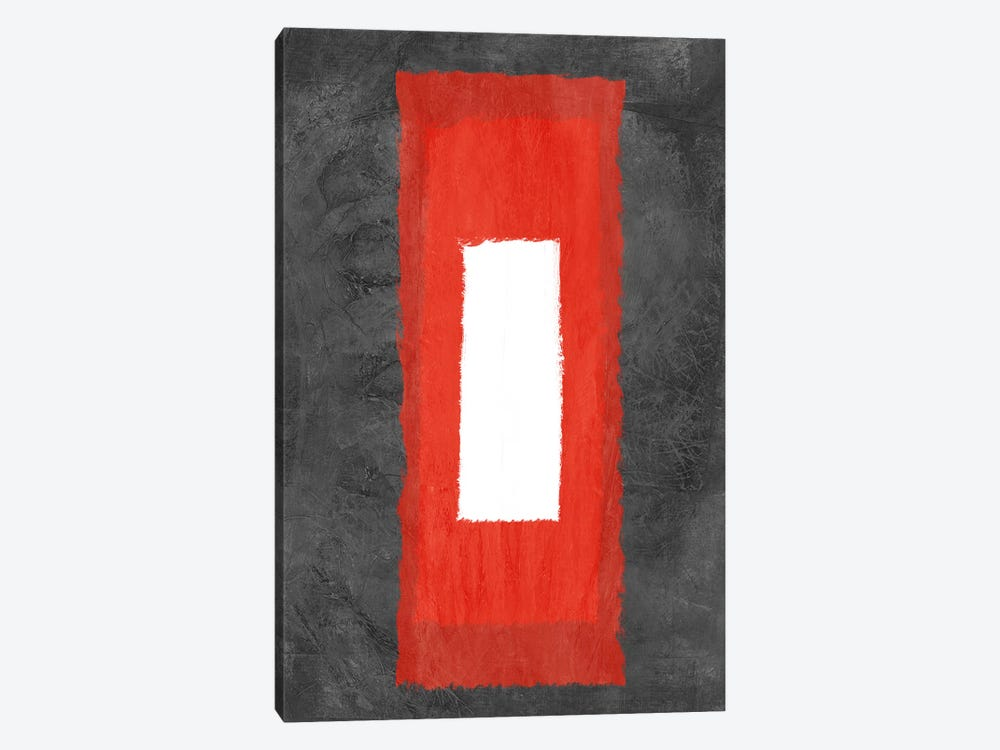 Grey and Red Abstract IV by Naxart 1-piece Canvas Art