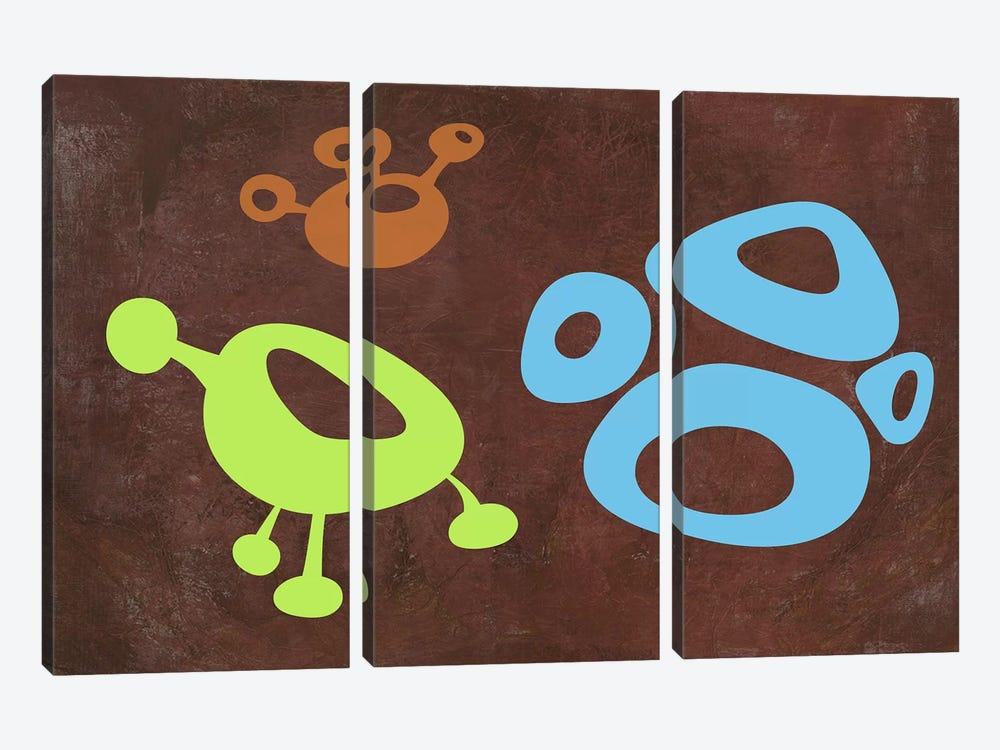 Abstract Splash Theme VIII by Naxart 3-piece Canvas Wall Art