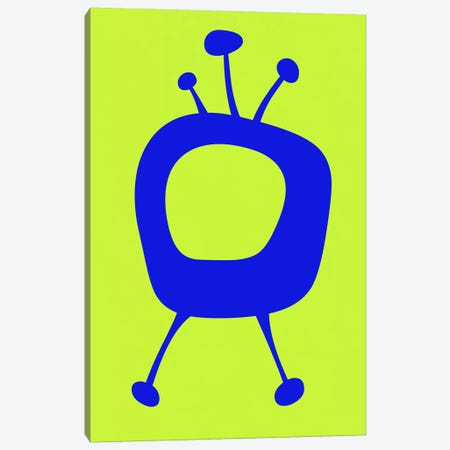 Funny TV III Canvas Print #NAX370} by Naxart Canvas Art Print