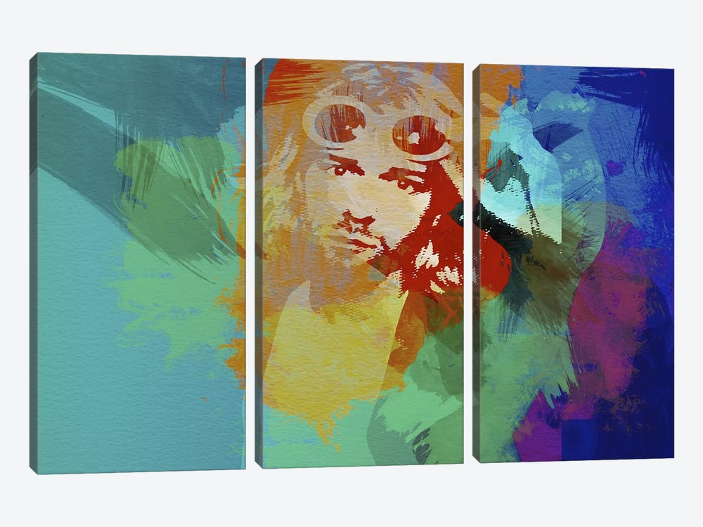 Kurt Cobain 3-piece Canvas Art Print