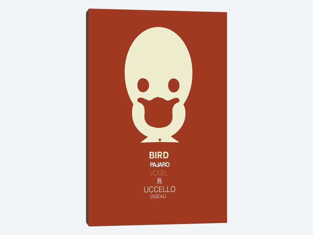 Multilingual Bird 1-piece Canvas Print