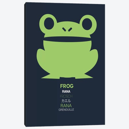 Multilingual Frog I Canvas Print #NAX384} by Naxart Canvas Print