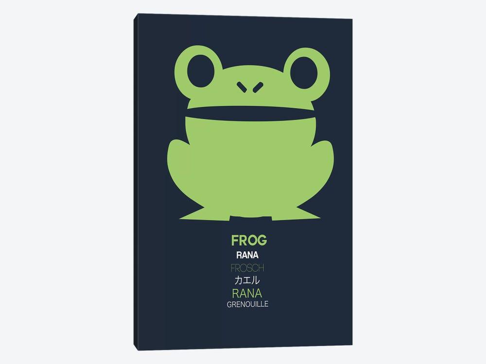 Multilingual Frog I by Naxart 1-piece Canvas Artwork
