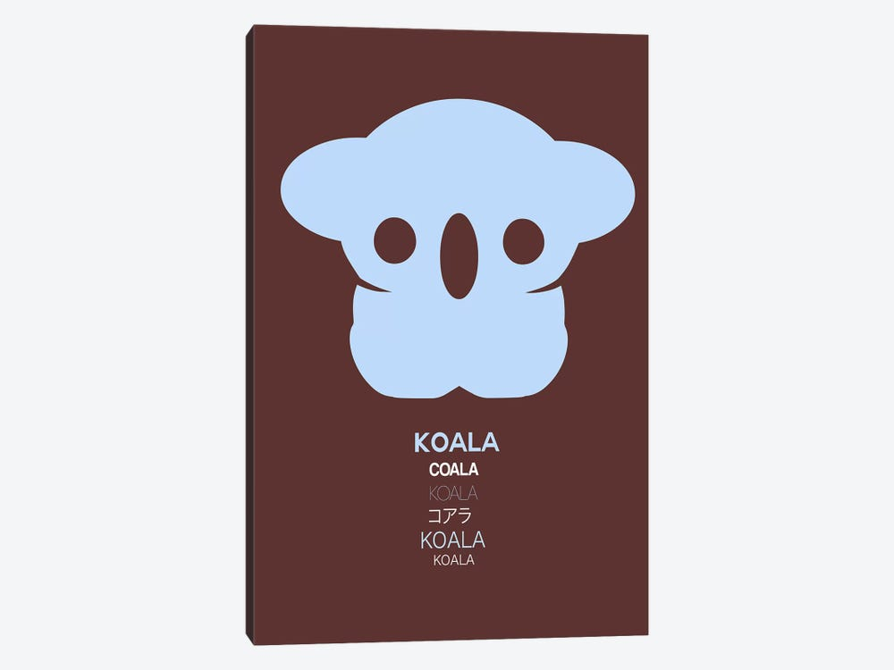 Multilingual Koala I by Naxart 1-piece Canvas Wall Art