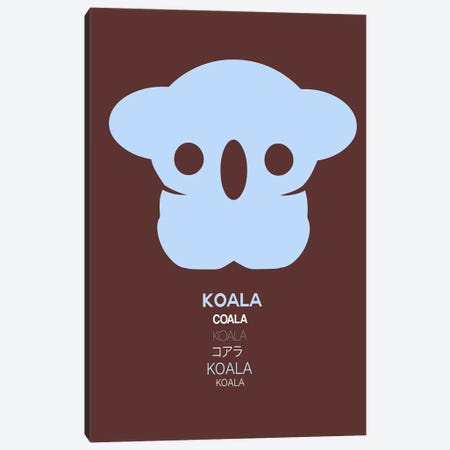 Multilingual Koala I 3-Piece Canvas #NAX386} by Naxart Canvas Art Print