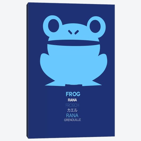 Multilingual Frog II Canvas Print #NAX389} by Naxart Canvas Art