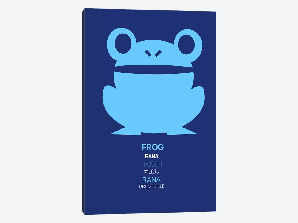 Multilingual Frog II by Naxart 1-piece Canvas Print
