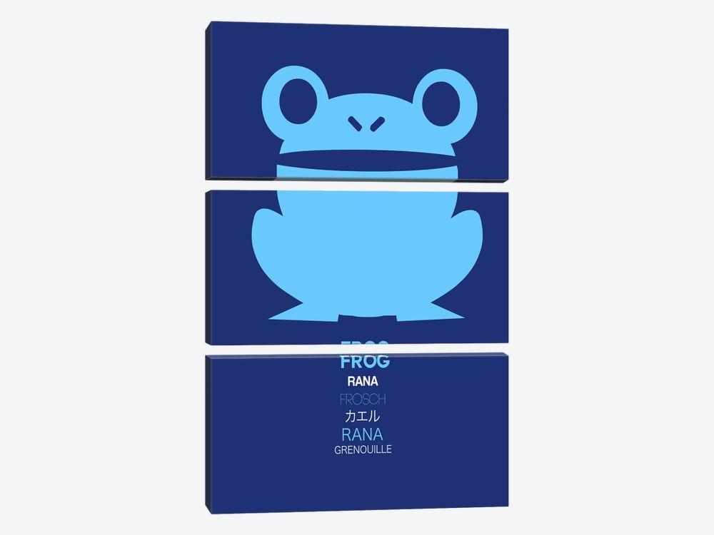 Multilingual Frog II by Naxart 3-piece Canvas Print