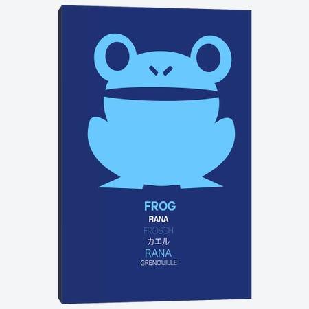 Multilingual Frog II Canvas Print #NAX389} by Naxart Canvas Art