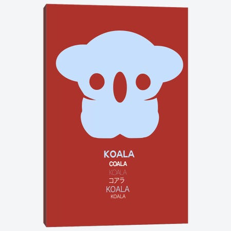 Multilingual Koala II Canvas Print #NAX390} by Naxart Canvas Art Print
