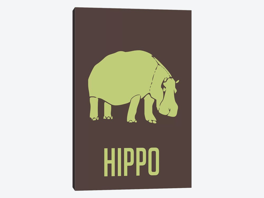 Hippo I by Naxart 1-piece Canvas Art