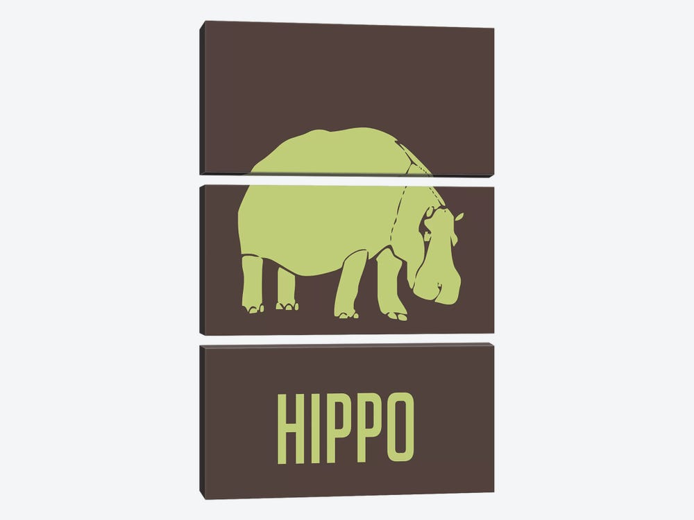 Hippo I by Naxart 3-piece Canvas Art