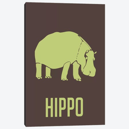 Hippo I Canvas Print #NAX393} by Naxart Canvas Print
