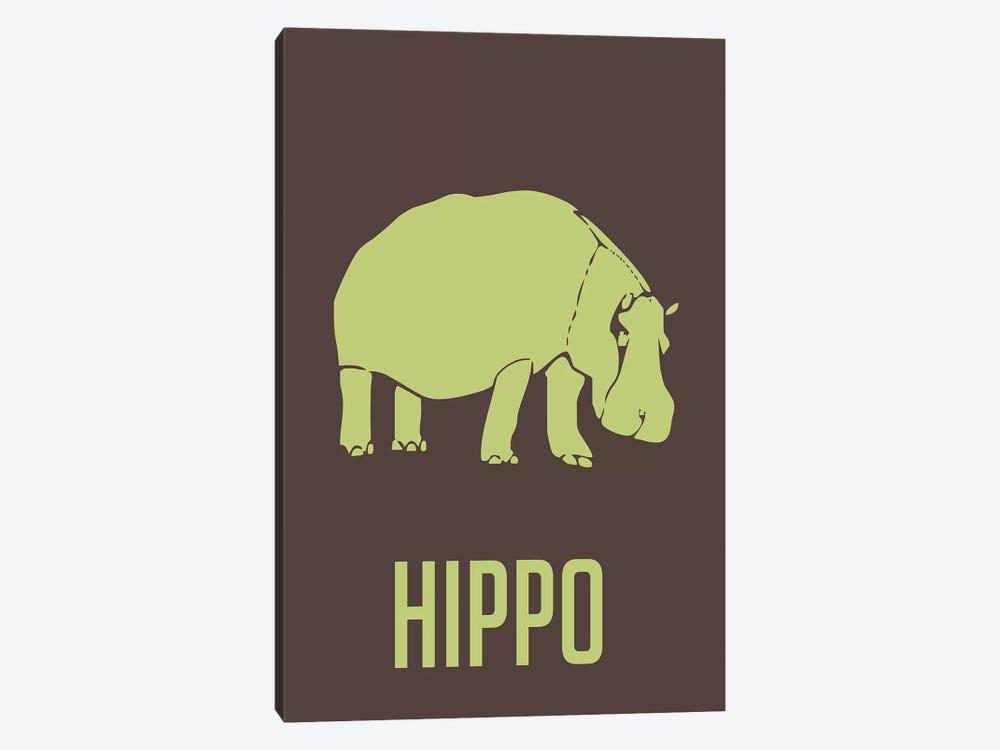 Hippo I by Naxart 1-piece Canvas Art