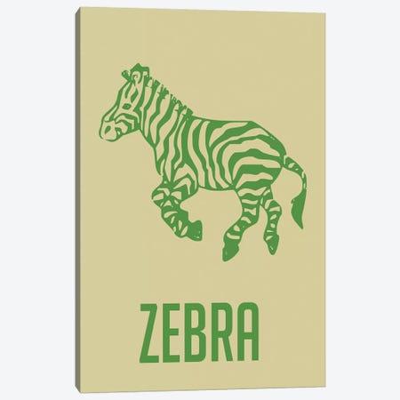 Zebra I Canvas Print #NAX395} by Naxart Canvas Artwork