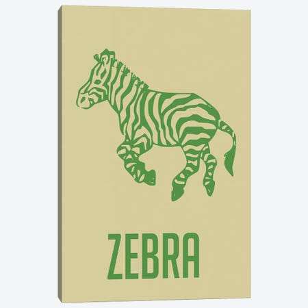 Zebra I Canvas Print #NAX395} by Naxart Canvas Artwork