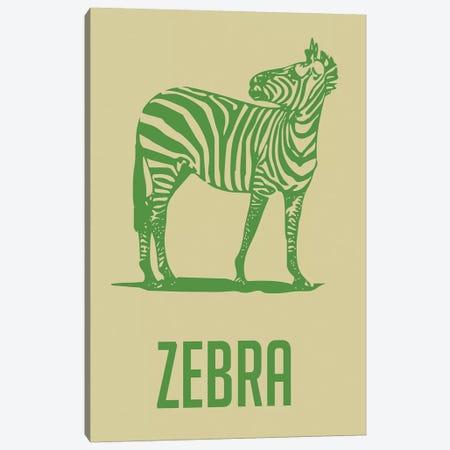 Zebra II Canvas Print #NAX396} by Naxart Canvas Artwork