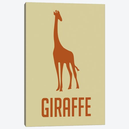 Giraffe I Canvas Print #NAX397} by Naxart Canvas Art