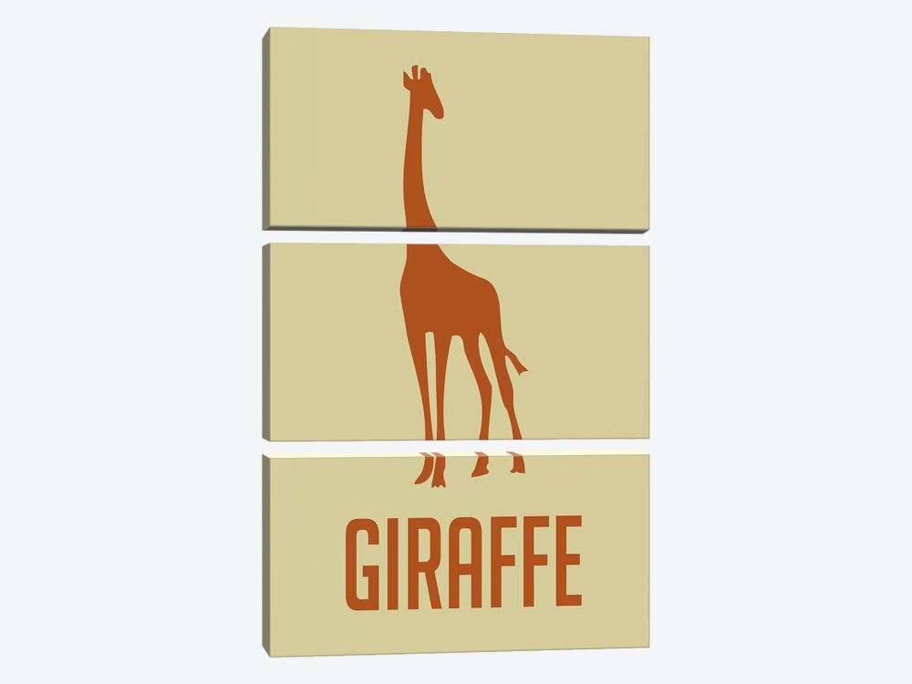 Giraffe I by Naxart 3-piece Canvas Wall Art