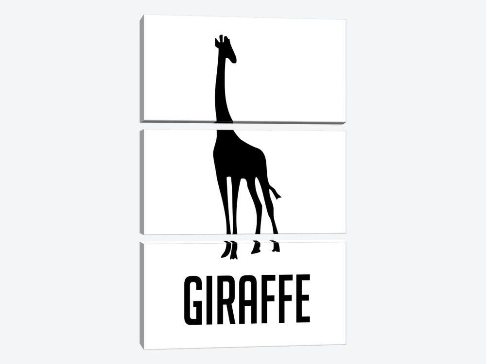 Giraffe II by Naxart 3-piece Canvas Print