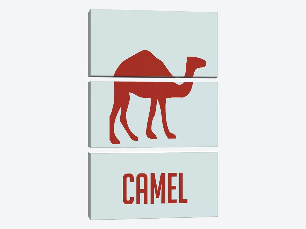 Camel I by Naxart 3-piece Canvas Wall Art