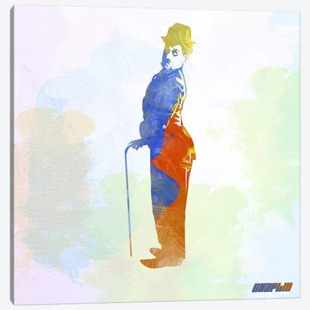 Charlie Chaplin I Canvas Print #NAX3} by Naxart Canvas Artwork