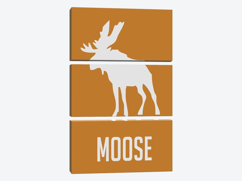 Moose I by Naxart 3-piece Canvas Print