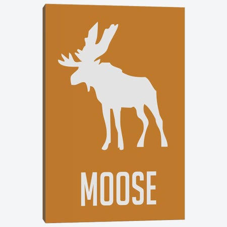 Moose I Canvas Print #NAX400} by Naxart Canvas Print