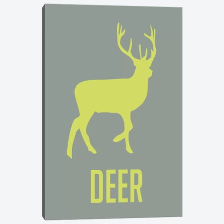 Deer Canvas Print #NAX401} by Naxart Canvas Art Print