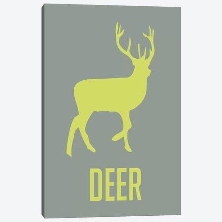 Deer Canvas Print #NAX401} by Naxart Canvas Art Print