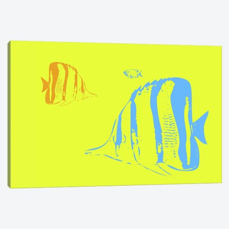 Aquarium I 3-Piece Canvas #NAX403} by Naxart Canvas Print