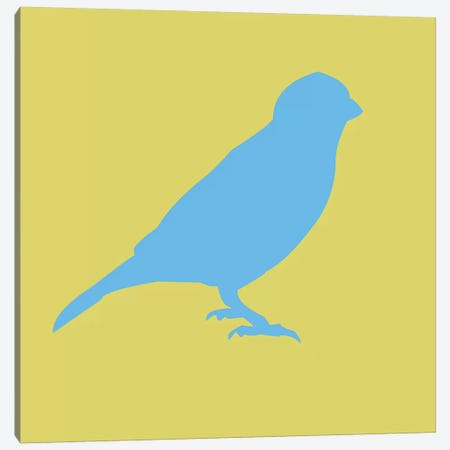 Blue Bird Canvas Print #NAX405} by Naxart Canvas Wall Art