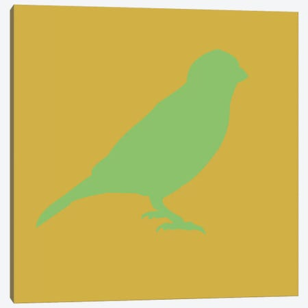 Green Bird Canvas Print #NAX406} by Naxart Canvas Artwork