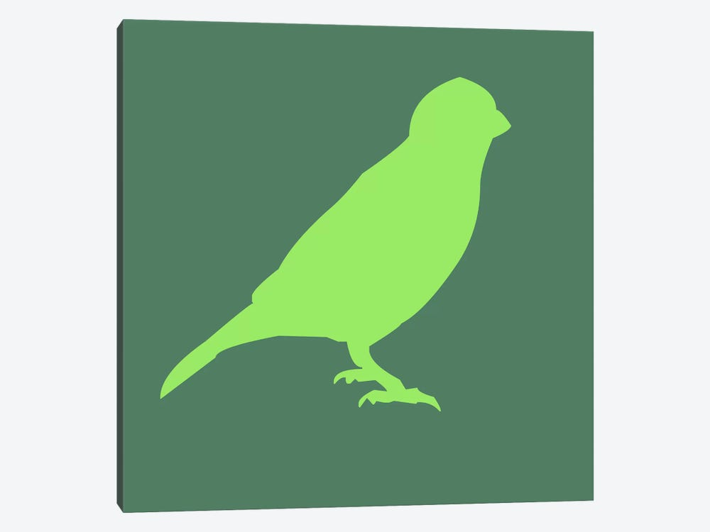 Neon Green Bird 1-piece Canvas Artwork