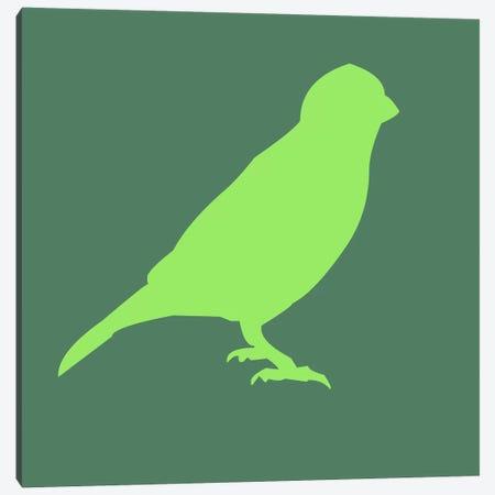 Neon Green Bird Canvas Print #NAX407} by Naxart Canvas Wall Art